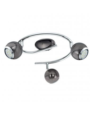 EGLO 31007 - BIMEDA Lámpara de Salón en Acero níquel-negro, cromo