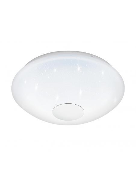 EGLO 95971 - VOLTAGO 2 Plafón LED en Acero blanco y Acrílico con efecto de cristal