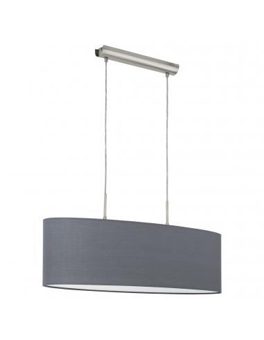 EGLO 31582 - PASTERI Lámpara colgante de Tela en Acero níquel-mate y Textil