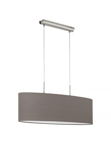 EGLO 31583 - PASTERI Lámpara colgante de Tela en Acero níquel-mate y Textil