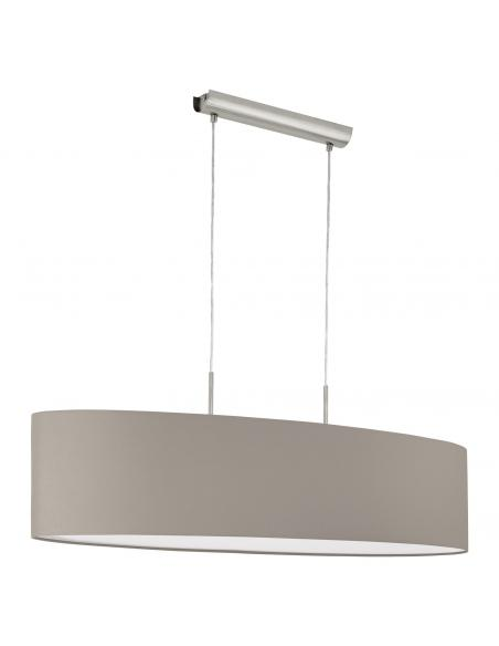 EGLO 31585 - PASTERI Lámpara colgante de Tela en Acero níquel-mate y Textil