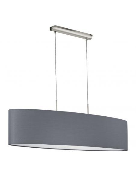 EGLO 31586 - PASTERI Lámpara colgante de Tela en Acero níquel-mate y Textil