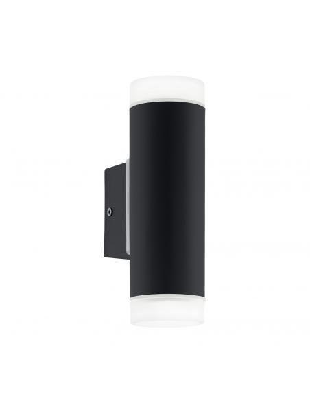 EGLO 96505 - RIGA-LED Aplique de exterior LED en Acero galvanizado negro y Acrílico