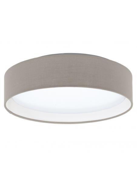 EGLO 31589 - PASTERI Plafón LED en Acrílico, acero blanco y Textil