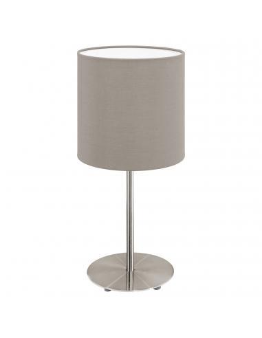 EGLO 31595 - PASTERI Lámpara de Tela en Acero níquel-mate y Textil
