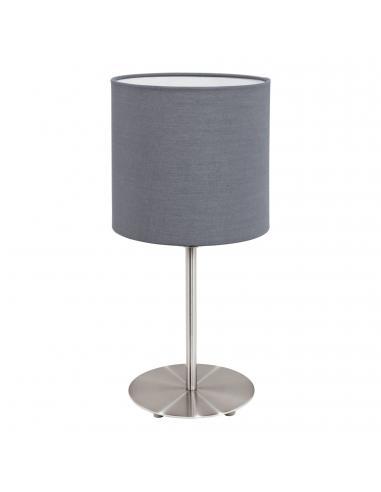 EGLO 31596 - PASTERI Lámpara de Tela en Acero níquel-mate y Textil