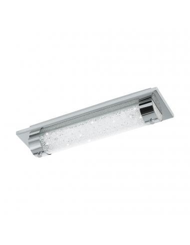 EGLO 97054 - TOLORICO Plafón LED en Acero inoxidable cromo y Vidrio, cristal