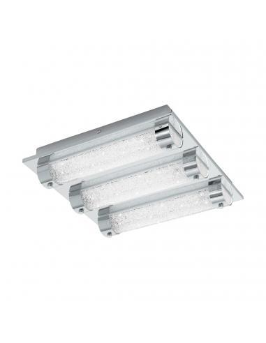 EGLO 97056 - TOLORICO Plafón LED en Acero inoxidable cromo y Vidrio, cristal