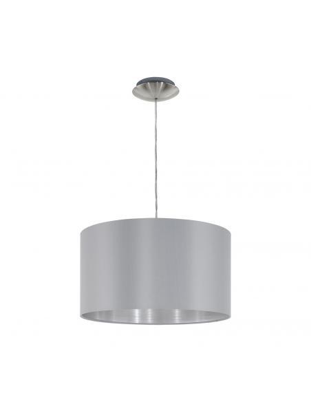 EGLO 31601 - MASERLO Lámpara colgante de Tela en Acero níquel-mate y Textil