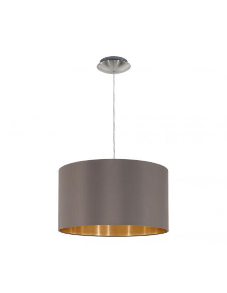 EGLO 31603 - MASERLO Lámpara colgante de Tela en Acero níquel-mate y Textil