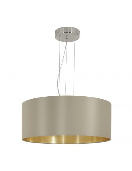 EGLO 31607 - MASERLO Lámpara colgante de Tela en Acero níquel-mate y Textil