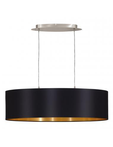 EGLO 31611 - MASERLO Lámpara colgante de Tela en Acero níquel-mate y Textil