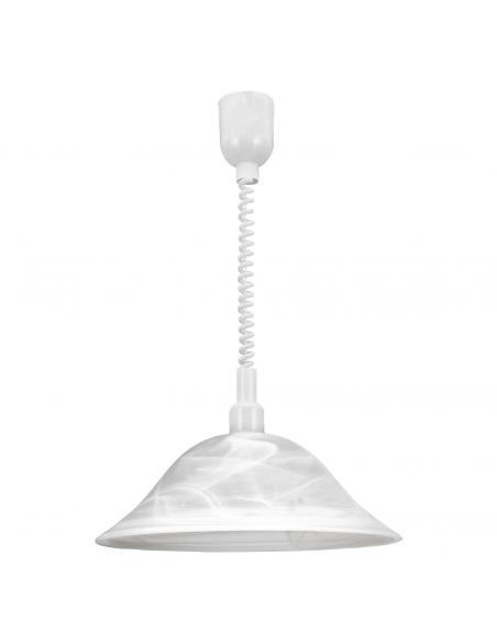 EGLO 3355 - ALESSANDRA Lámpara colgante de Cristal en Acrílico blanco y Vidrio alabastro