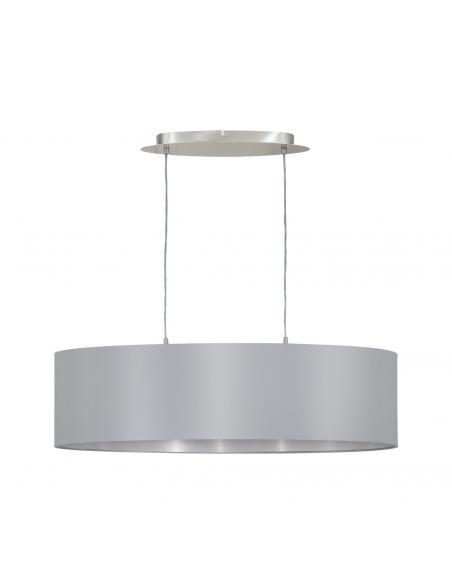 EGLO 31612 - MASERLO Lámpara colgante de Tela en Acero níquel-mate y Textil
