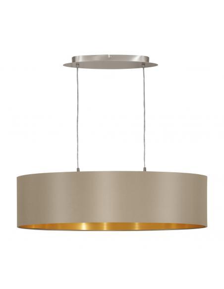 EGLO 31613 - MASERLO Lámpara colgante de Tela en Acero níquel-mate y Textil