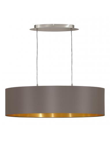 EGLO 31614 - MASERLO Lámpara colgante de Tela en Acero níquel-mate y Textil