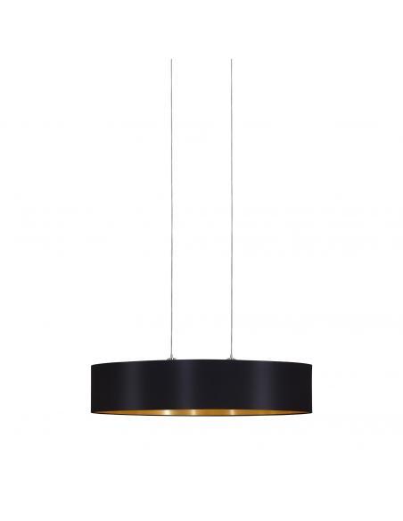 EGLO 31616 - MASERLO Lámpara colgante de Tela en Acero níquel-mate y Textil
