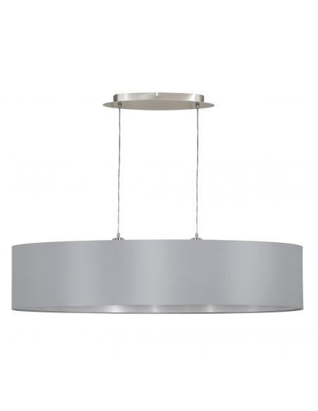 EGLO 31617 - MASERLO Lámpara colgante de Tela en Acero níquel-mate y Textil