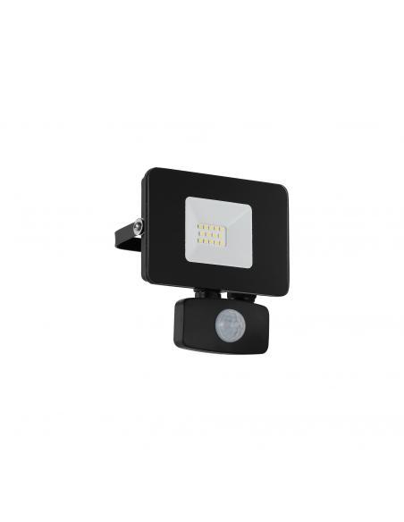 EGLO 97459 - FAEDO 3 Aplique de exterior con sensor de movimiento en Aluminio negro y Vidrio