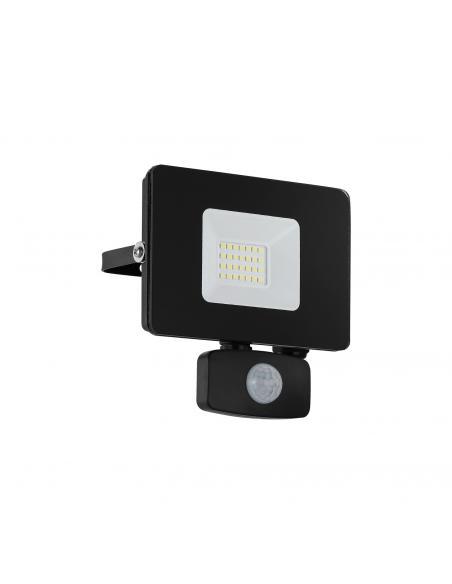 EGLO 97461 - FAEDO 3 Aplique de exterior con sensor de movimiento en Aluminio negro y Vidrio