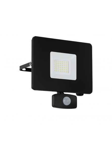 EGLO 97462 - FAEDO 3 Aplique de exterior con sensor de movimiento en Aluminio negro y Vidrio