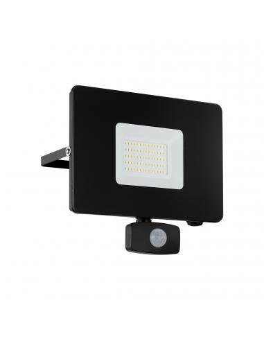 EGLO 97463 - FAEDO 3 Aplique de exterior con sensor de movimiento en Aluminio negro y Vidrio