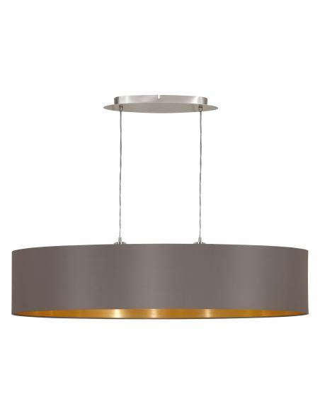 EGLO 31619 - MASERLO Lámpara colgante de Tela en Acero níquel-mate y Textil
