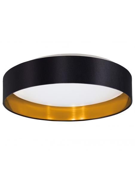 Lámpara de sobremesa estilo vintage en acero negro TARBES