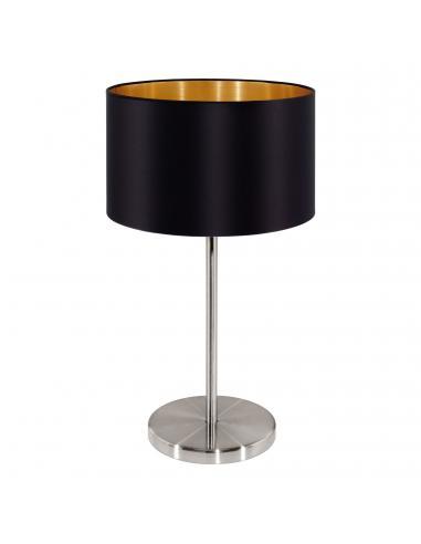 EGLO 31627 - MASERLO Lámpara de Tela en Acero níquel-mate y Textil