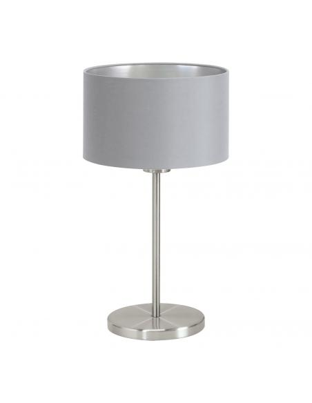 EGLO 31628 - MASERLO Lámpara de Tela en Acero níquel-mate y Textil