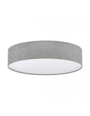 EGLO 97613 - PASTERI Plafón de Tela en Acero blanco y Textil, lino