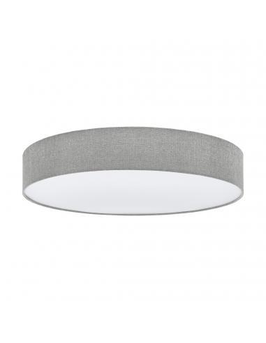 EGLO 97617 - PASTERI Plafón de Tela en Acero blanco y Textil, lino