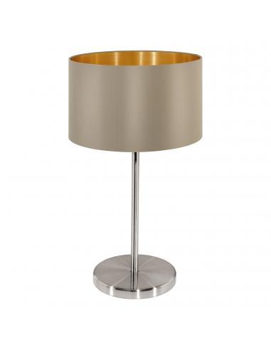 EGLO 31629 - MASERLO Lámpara de Tela en Acero níquel-mate y Textil