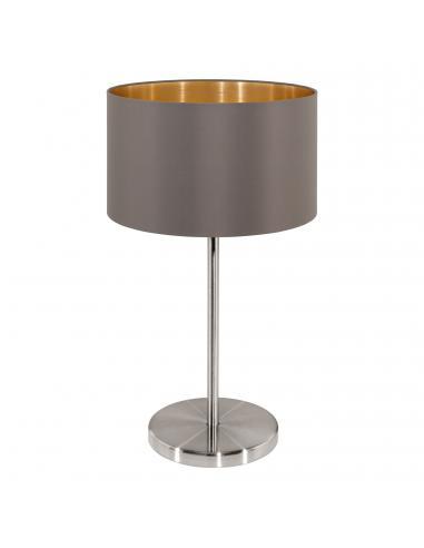 EGLO 31631 - MASERLO Lámpara de Tela en Acero níquel-mate y Textil