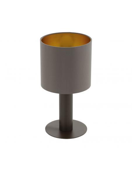 EGLO 97686 - CONCESSA 1 Lámpara de Tela en Acero marrón oscuro y Textil