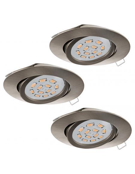 EGLO 31689 - TEDO Lámpara Empotrable LED en Fundición de aluminio níquel-mate