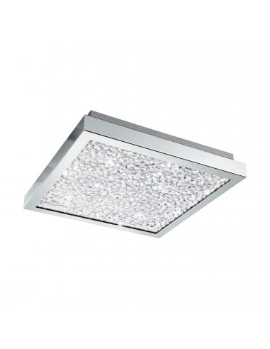 EGLO 32025 - CARDITO Plafón LED en Acero cromo y Vidrio, cristal