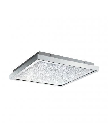 EGLO 32026 - CARDITO Plafón LED en Acero cromo y Vidrio, cristal