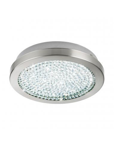 EGLO 32046 - AREZZO 2 Plafón LED en Acero níquel-mate y Vidrio, cristal