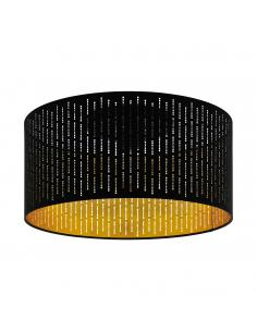EGLO 98311 - VARILLAS Plafón de Tela en Acero negro y Textil con recortes