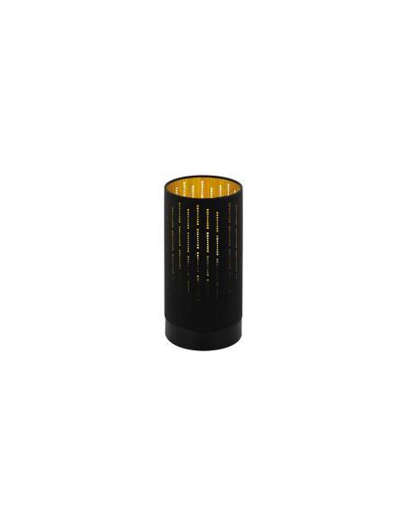 EGLO 98314 - VARILLAS Lámpara de Tela en Acero negro y Textil con recortes