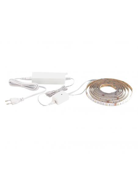EGLO 32741 - STRIPE-C Lámpara con Luces Inteligentes LED en Acrílico blanco