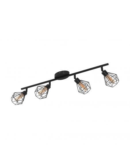 EGLO 32767 - ZAPATA 1 Foco LED en Acero negro y Vidrio
