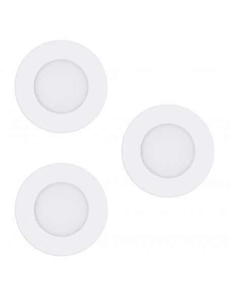 EGLO 32881 - FUEVA-C Lámpara Empotrable LED en Fundición de metal blanco y Acrílico