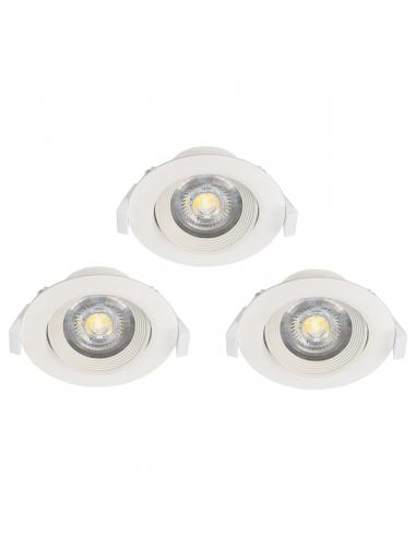 EGLO 32896 - SARTIANO Lámpara Empotrable LED en Acrílico blanco