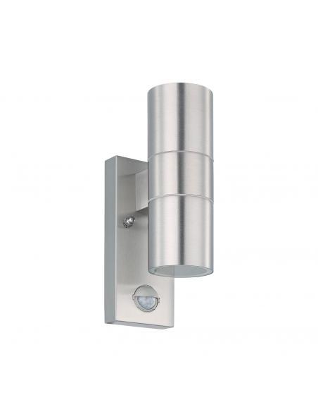 EGLO 32898 - RIGA 5 Aplique de exterior con sensor de movimiento en Acero inoxidable acero inoxidable y Vidrio