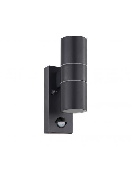 EGLO 32899 - RIGA 5 Aplique de exterior con sensor de movimiento en Acero galvanizado antracita y Vidrio