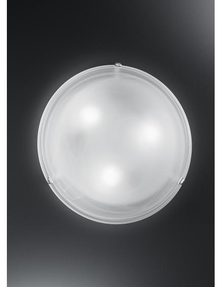 EGLO 7186 - SALOME Lámpara de pared / techo en Acero y Vidrio alabastro