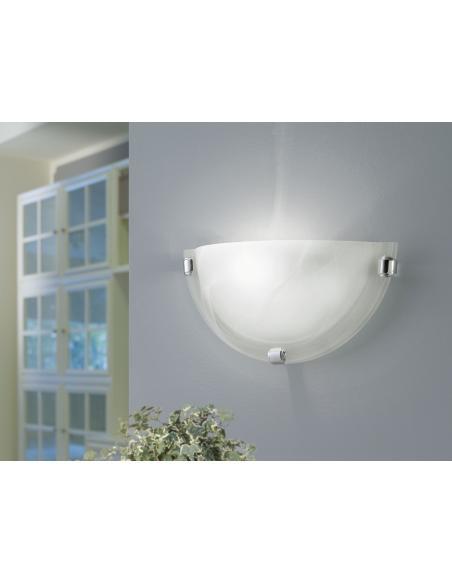 EGLO 7188 - SALOME Lámpara de pared en Acero y Vidrio alabastro