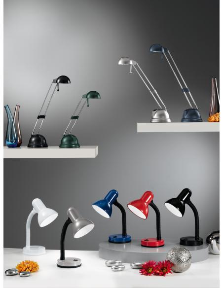 EGLO 9230 - BASIC Lámpara de mesa en Acrílico, acero